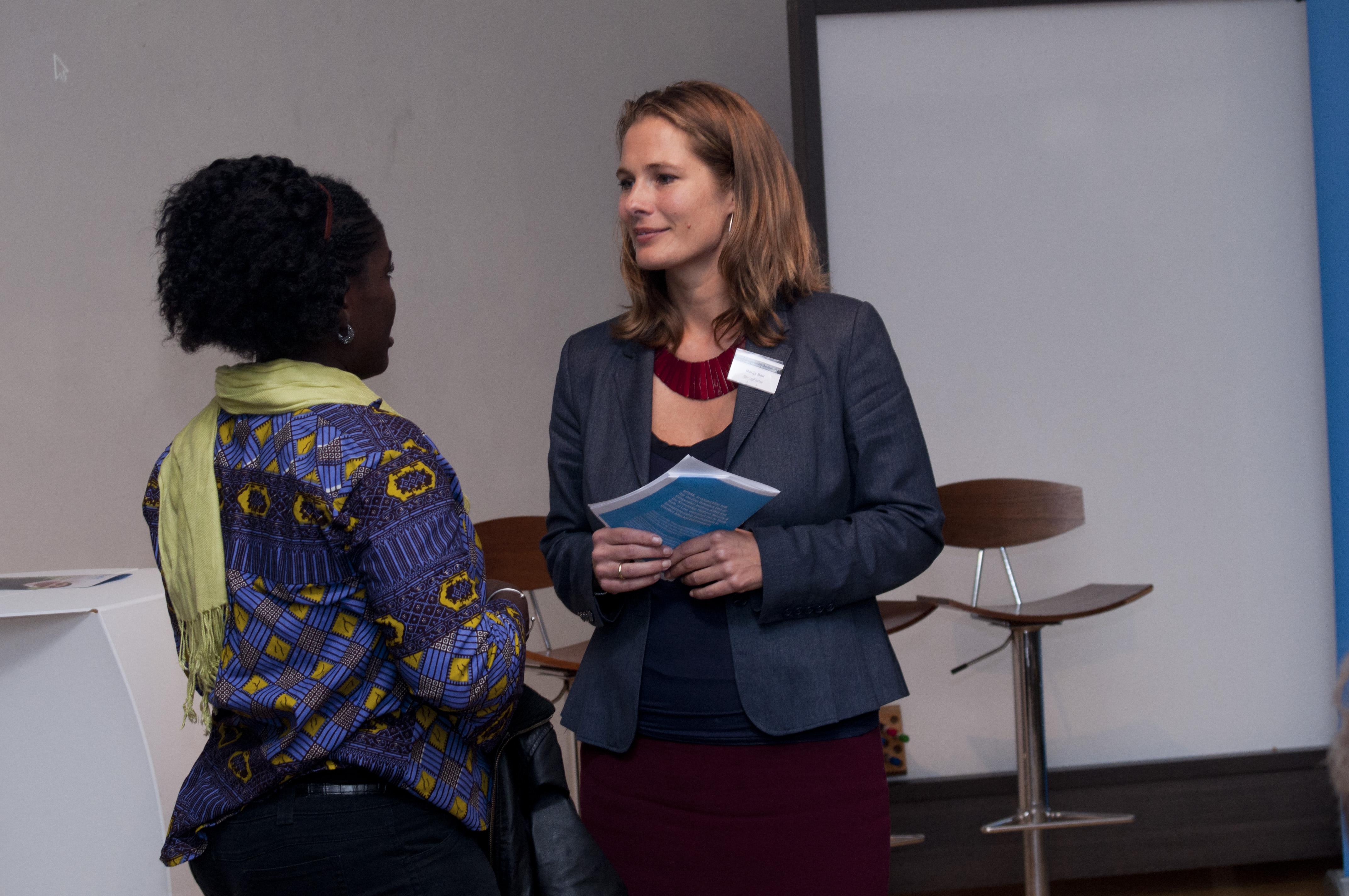 Marije with Pandora entrepreneur from Liberia